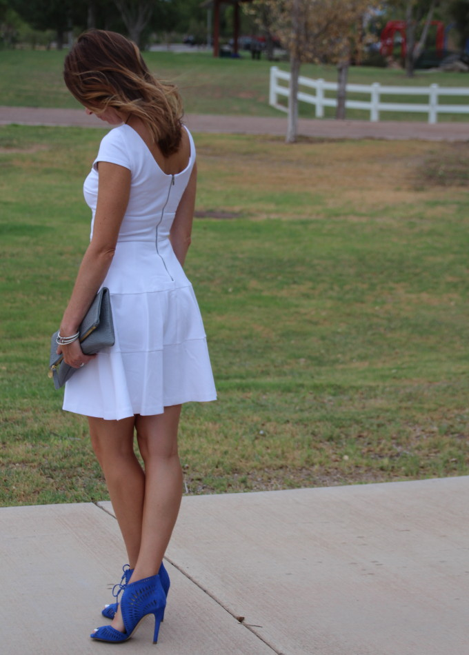 little white dress, ivanka trump delfino, banana republic, white dress, essie nail polish, david yurman, clare v, clare vivier
