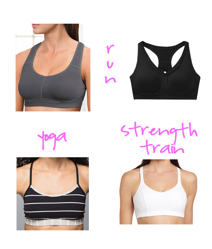 sports bras, running, yoga, strength training, lululemon, athleta