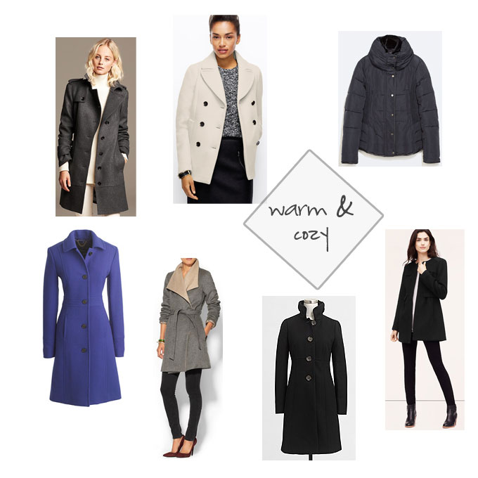 fall and winter coat fashions to stay warm and cozy