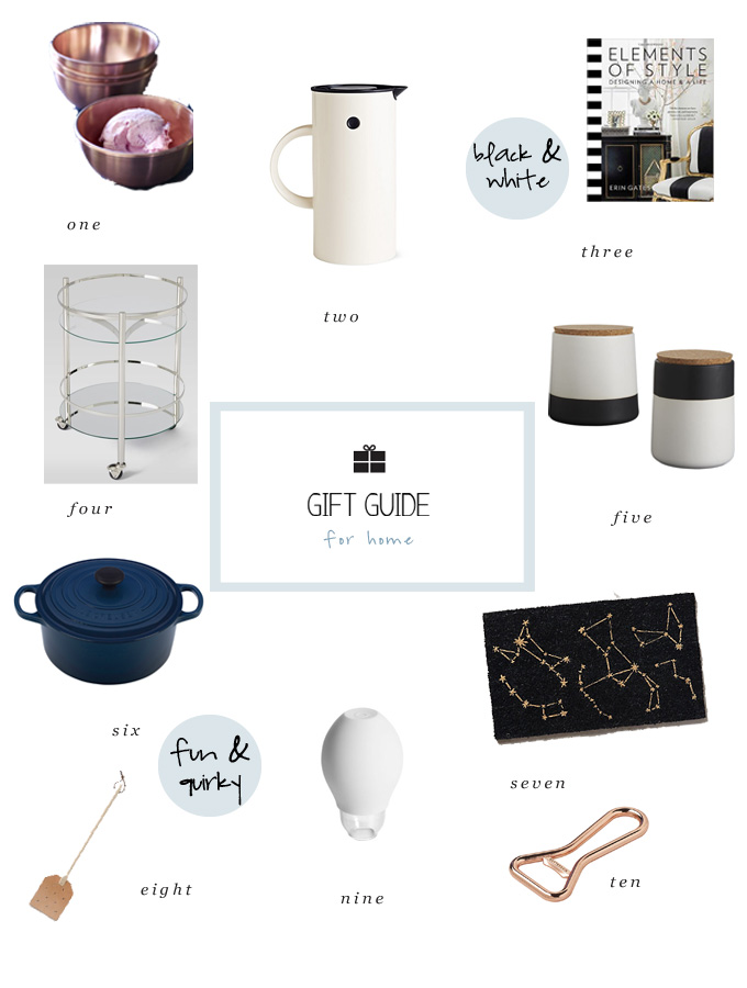 holiday gift ideas for the home