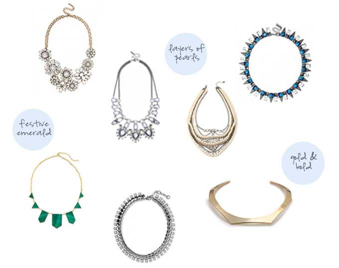statement necklaces to add sparkle to your holiday party outfit