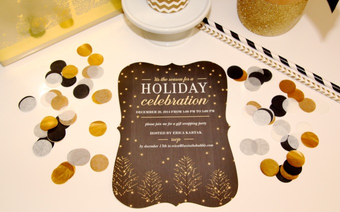 Holiday gift wrapping party with Shutterfly invitations