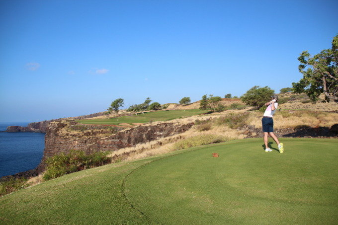 Golfing at Manele Bay