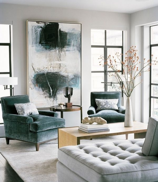 Inspiration for a grey and white home
