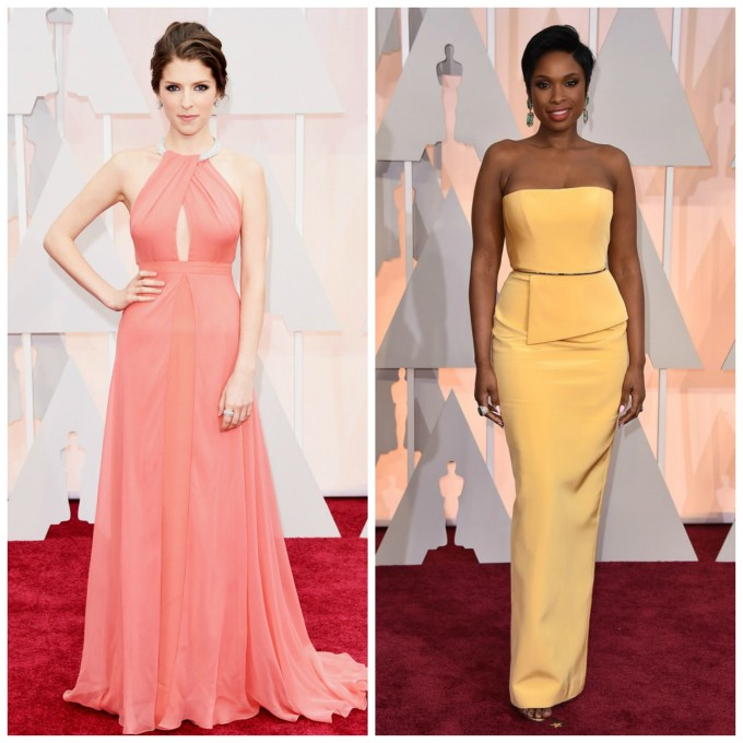 2015 Oscars: Anna Kendrick and Jennifer Hudson