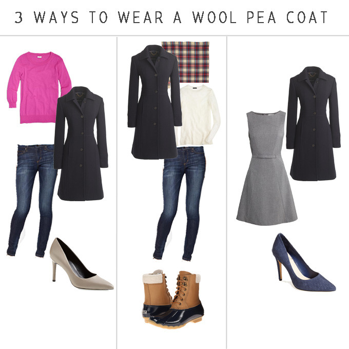 the wool pea coat everyone should have in their wardrobe