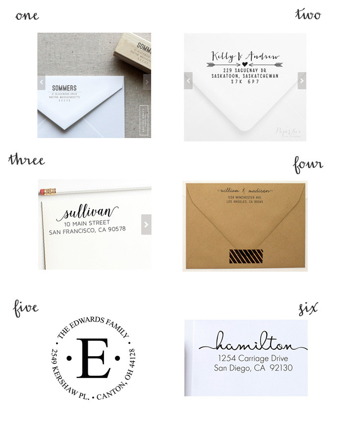 return address stamps from etsy