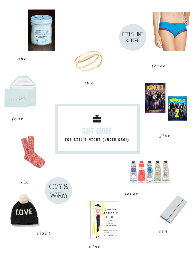 Holiday Gift Guide for Your Girlfriends (Under $50)