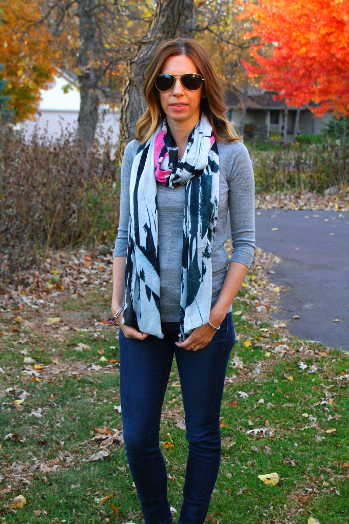 Tippi Sweater, Statement Scarf