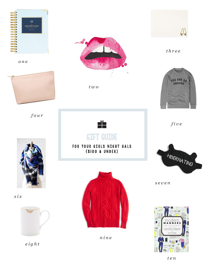 Holiday Gift Guide For Your Girl S Night Gals 100 Under Luv In The Bubble