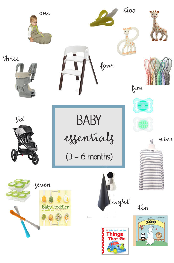 Baby Essentials for 3-6 Month Olds