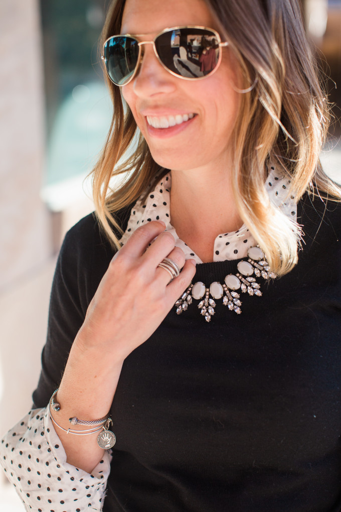 Polka Dots, BaubleBar Necklace