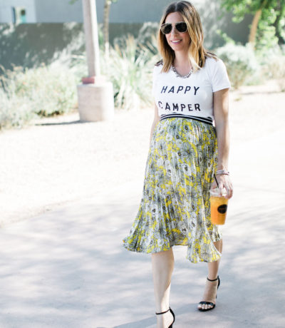 Happy Camper Tee, Pregnancy Style