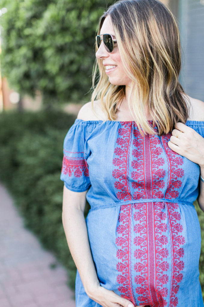 madewell embroidered indigo mercado dress