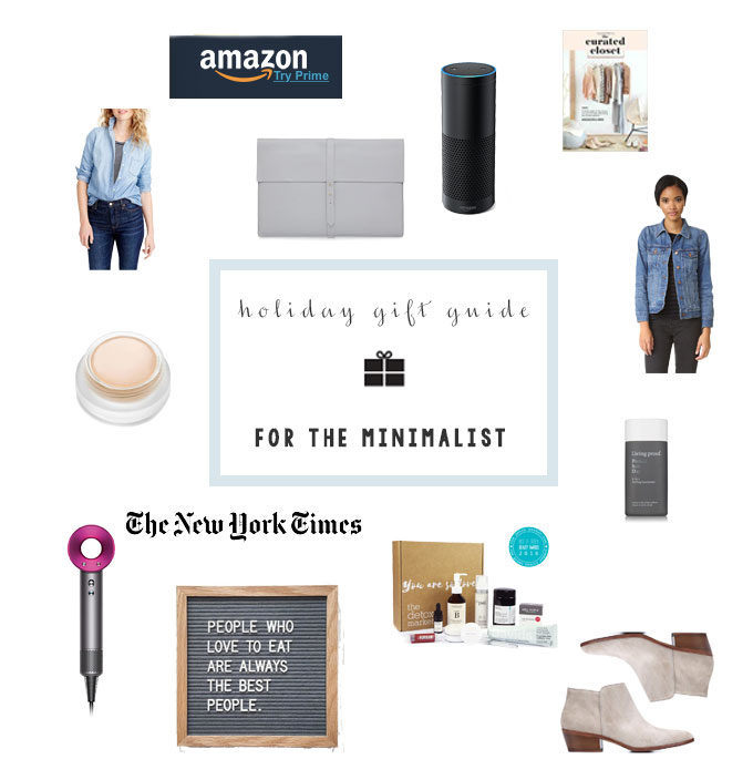 gift guide of best ideas for the minimalist