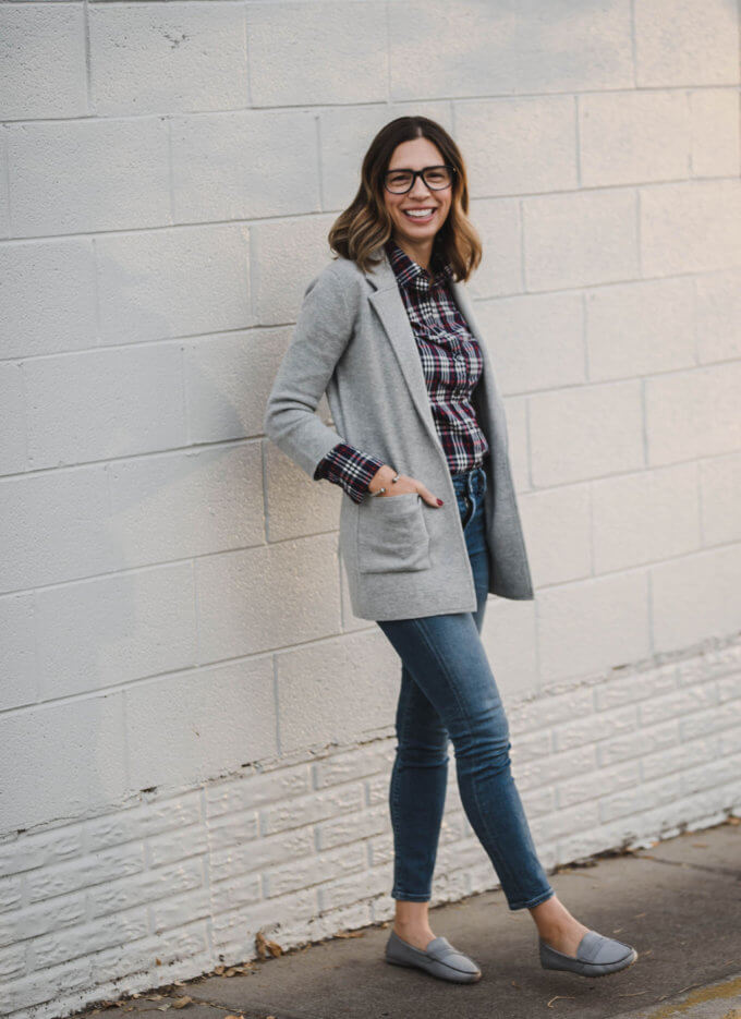 J Crew Sweater Blazer