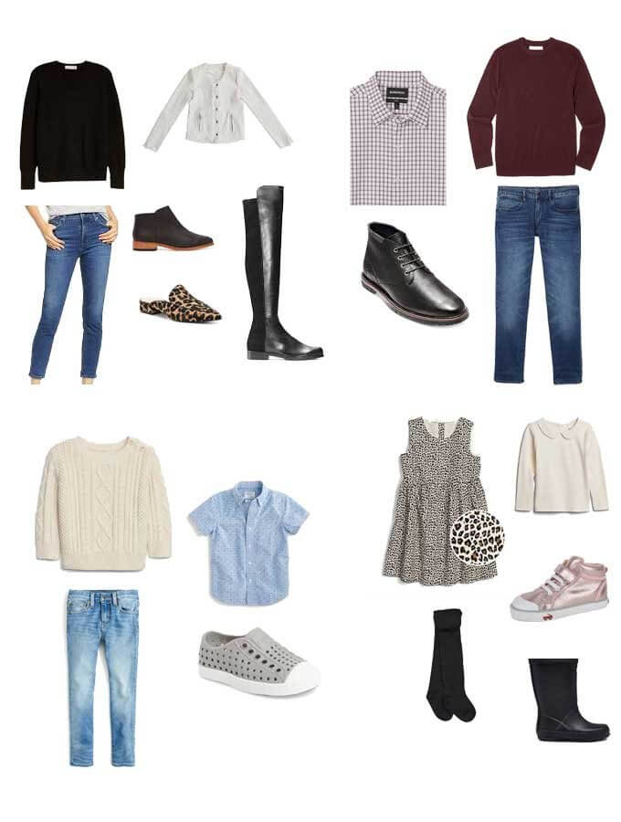 Family Holiday Photo Outfit Ideas