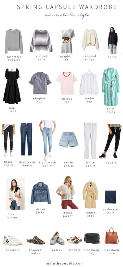 spring 2021 capsule wardrobe, minimalistic style, stay at home